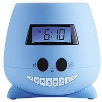 Despertador con proyector techo azul