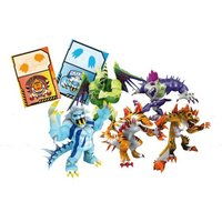 Invizimals - Pack de 5 Figuras - Toxitord, Gryphon, Xiong Mro, Steel Dragon y Dark Icelion