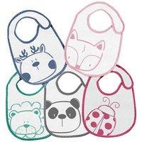 Olmitos - Set de 5 Baberos Animales