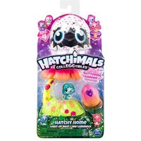 Hatchimals casa nido con luz jardin brillante