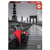 Educa Borrás - Paraguas Rojo Puente de Brooklyn - Puzzle 1000 Piezas
