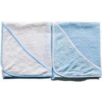 Babies R Us - Pack 2 Toallas con Capucha (azul y blanco)