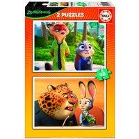 Educa Borras - Zootropolis - Puzzle 2x48 Piezas