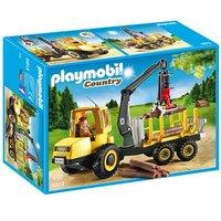 Playmobil - Vida en el Campo Transportador de Leña con Grua - 6813