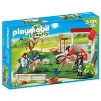 Playmobil - Súper Set Paddock con Cuadra - 6147