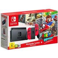 Nintendo Switch con Joy-con Rojo y Super Mario Odissey