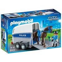 Playmobil - Policía con Caballo y Remolque - 6922