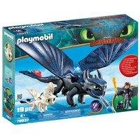 Playmobil - Hipo y Desdentado con Bebé Dragón - 70037