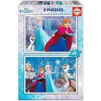 Educa Borras - Frozen - Puzzle 2x48 Piezas