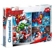 Los Vengadores - Puzzle Infantil 3x48 Piezas