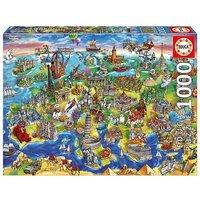 Educa Borras - Europa en el Mundo - Puzzle 1000 Piezas