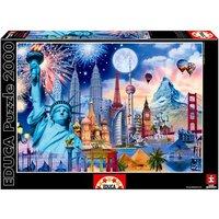 Educa Borrás - Puzzle 2000 Piezas - Monumentos del Mundo