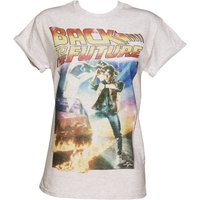 Women's Back to the Future Movie Poster Rolled Sleeve Boyfriend T-Shirt - Boyfriend Gifts