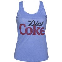 Women's Light Blue Marl Diet Coke Logo Racerback Vest - Diet Coke Gifts