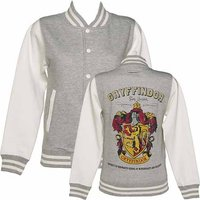 Women's Grey Harry Potter Gryffindor Team Quidditch Varsity Jacket - Gryffindor Gifts