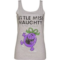 Women's Grey Little Miss Naughty Vest - Grey Gifts