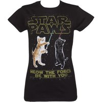 Women's Star Paws Parody Fitted T-Shirt - Tshirt Gifts