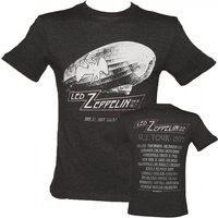 Men's Charcoal Dazed And Confused US Tour 1977 Led Zeppelin T-Shirt from Amplified Vintage - Led Zeppelin Gifts