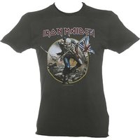 Men's Charcoal Iron Maiden Trooper T-Shirt from Amplified - Iron Maiden Gifts