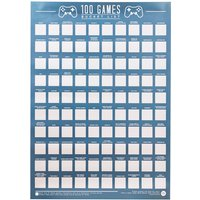 100 Games Bucket List Scratch Poster - Games Gifts