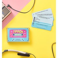 1990s Music Trivia Cassette Quiz Game - Quiz Gifts