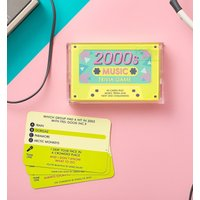 2000s Music Trivia Cassette Quiz Game - Music Gifts