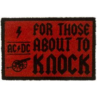 AC/DC For Those About To Knock Door Mat - Acdc Gifts