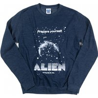 Alien Retro Movie Poster Heather Navy Sweater - Sweater Gifts