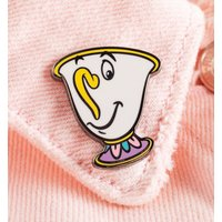 Beauty and the Beast Chip Enamel Pin Badge - Beauty And The Beast Gifts