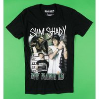 Black Eminem My Name Is Slim Shady T-Shirt - Eminem Gifts