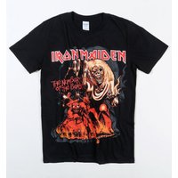 Black Iron Maiden Number Of The Beast T-Shirt - Iron Maiden Gifts