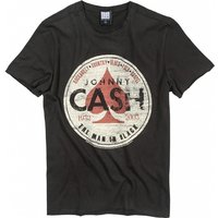 Charcoal Johnny Cash The Man In Black T-Shirt from Amplified - Johnny Cash Gifts