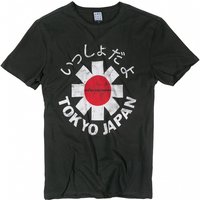 Charcoal Red Hot Chili Peppers Tokyo Japan T-Shirt from Amplified - Japan Gifts