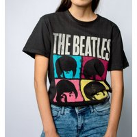 Charcoal The Beatles Hard Day's Night T-Shirt from Amplified - Beatles Gifts