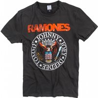 Charcoal The Ramones Vintage Seal T-Shirt from Amplified - Ramones Gifts