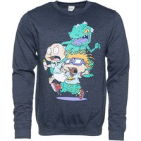 Dark Blue Marl Rugrats Chase Sweater - Sweater Gifts