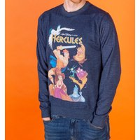 Disney Hercules Video Cover Heather Navy Sweater - Sweater Gifts
