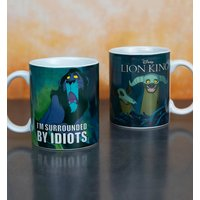 Disney The Lion King Scar I'm Surrounded By Idiots Mug - Lion King Gifts