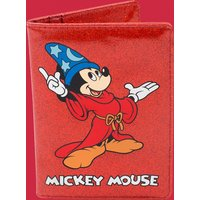 Fantasia Sorcerer Mickey Red Glitter Passport Holder from Cakeworthy - Passport Gifts