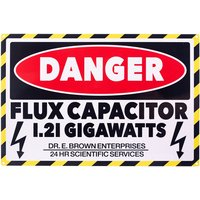 Flux Capacitor Danger Metal Sign - Truffleshuffle Gifts