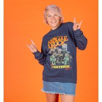 Fraggle Rock Lighthouse Tour Heather Navy Sweater - Sweater Gifts