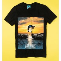 Free Willy Movie Poster Black T-Shirt - Movie Gifts