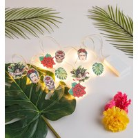 Frida Kahlo String Lights from House Of Disaster - Lights Gifts