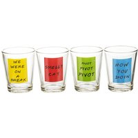 Friends Quotes Set of 4 Shot Glasses - Quotes Gifts