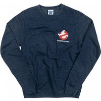 Ghostbusters Who Ya Gonna Call Back Print Heather Navy Sweater - Sweater Gifts