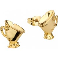 Gold Plated Beauty & The Beast Chip Stud Earrings from Disney Couture - Disney Jewellery Gifts