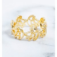 Gold Plated Simba Outline Lion King Ring - Lion King Gifts