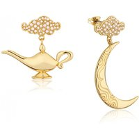 Gold Plated Swarovski Pearl Aladdin Genie Lamp Drop Earrings from Disney by Couture Kingdom - Disney Jewellery Gifts