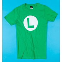 Green Super Mario Brothers Luigi T-Shirt - Computer Games Gifts