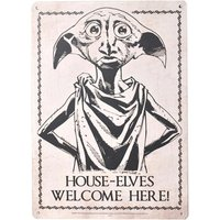 Harry Potter Dobby House Elves Welcome Here Small Tin Sign - Small Gifts